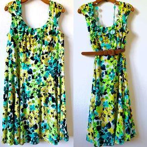 Cute London Times Multi Color Floral Dress